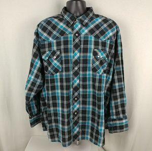 Wrangler Western Snap Shirt Long Sleeve Button Up